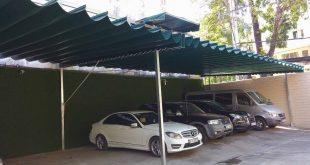 thi công mái xếp nhà để xe